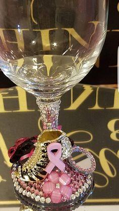 Fancy Wine Glasses, Birthday Wine Glasses, Glitter Wine Glasses, Decorated Wine Glasses, Painted Wine Glasses, Champagne Glasses, Bedazzled Liquor Bottles, Bling Bottles, Secret Santa
