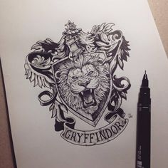 harry potter black and white hogwarts gryffindor hufflepuff - slytherin drawing Fanart Harry Potter, Harry Potter Tattoos, Harry Potter Sketch, Arte Do Harry Potter, Harry Potter Drawings, Hogwarts Crest, Slytherin, Image Tumblr, Harry Potter Preferences