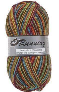 New Running Multi par Lammy Yarns Pelotte de Laine - Différents coloris