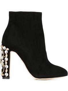 Dolce & Gabbana Stiefeletten Mit Verziertem Absatz - Benesch - Farfetch.com