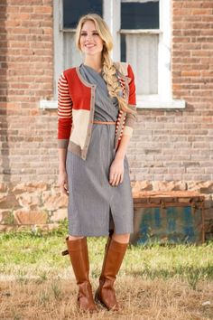 Striped Olivia Sweater from the Timbers and Twine Collection by Shabby Apple