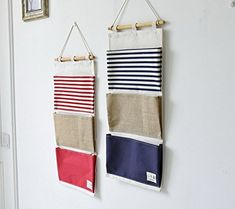 Amazon.com: Over the Door Organizer Wall Closet Hanging Storage Bag Multilayer Linen Fabric Pouch Debris (Blue,11.8x25.1In): Home & Kitchen