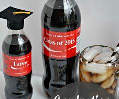 Graduation Cap Coke Bottles from The Cards We Drew