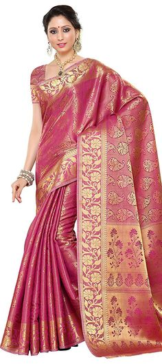 735411 Pink and Majenta color family Party Wear Sarees, Silk Sarees in Art Silk, Banarasi fabric with Thread work with matching unstitched blouse. Art Silk Sarees, Silk Sarees Online, Thing 1, Indian Fashion, Womens Fashion, Traditional Sarees, Fashion Over, Fashion 2018, Fashion Models