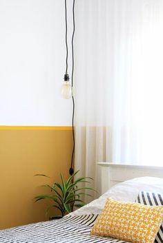MY ATTIC / vintage light bulb / bedroom Photography: Marij Hessel… Bedroom Lamps, Bedroom Wall, Bedroom Decor, Vintage Light Bulbs, Vintage Lamps, Mustard Bedroom, Bedroom Photography, Yellow Bedding, Yellow Interior