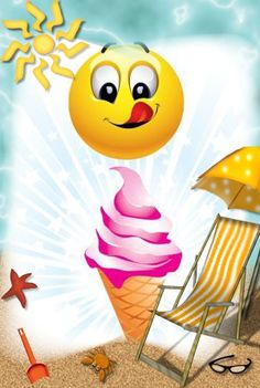 Time for Ice Cream Smiley… Smiley Emoticon, Emoticon Faces, Love Smiley, Emoji Love, Silly Faces, Funny Faces, Just Smile, Smile Face, Smiley T Shirt
