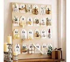 Beautiful, sophisticated DIY Advent Calendar