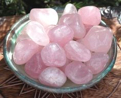 Rose Quartz- stone of unconditional love. Best for healing the heart chakra. Finest emotional healer, if you have loved and lost, it comforts your grief.❤❤❤❤❤