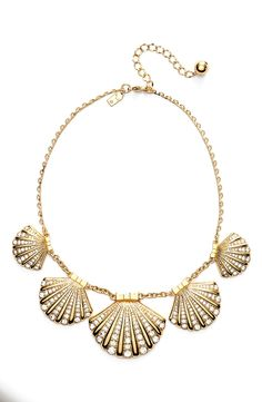 This clam statement necklace is on the list of favorites for summer | Kate Spade.