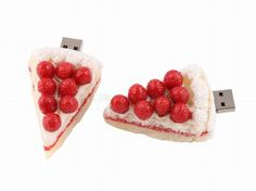 feel like eating something #sweet? well here's a #cherry #cheesecake for you! this little cheesecake will have your mouth watery every time you look at it! #yummy #food #dessert #usb #usb #heavenly #lovely #sweets #treat #drool #memory #amazing #design #usbdirectcanada Check out our custom shaped usbs at: http://www.usbdirectcanada.ca/material/custom-shaped-usb