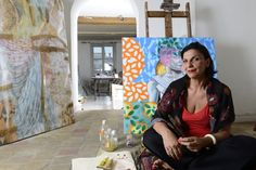 L'atelier de Lina Karam  - Photo de Raphaële Kriegel - www.photographe-tableau-paris.com
