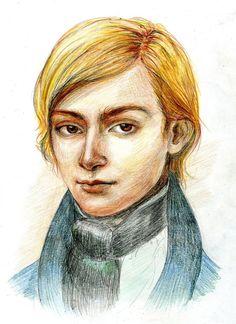 Evariste Galois by Selunec