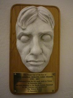 Death mask of Admiral Lord Horatio Nelson.