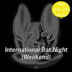 International Bat Night (Weekend) is always the last weekend in August!