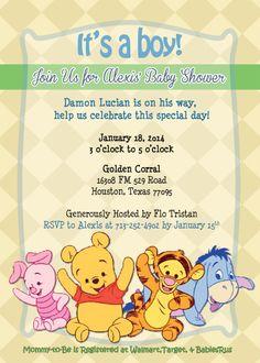 winnie the pooh invitation template hawaii dermatology baby rh pinterest com Winnie the Pooh Fall Clip Art Winnie the Pooh and Friends Clip Art