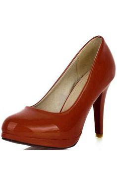 01110912dcb0 Women Faux Patent Leather Close Toe Platform Stilettos Heels - Black