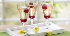 The best Framboise Champagne Spritizers recipe you will ever find. Welcome to RecipesPlus, your premier destination for delicious and dreamy food inspiration. Champagne Glasses, Sparkling Wine, New Years Eve, Food Inspiration, Raspberry, Good Food, Fresh, Tableware, Recipes