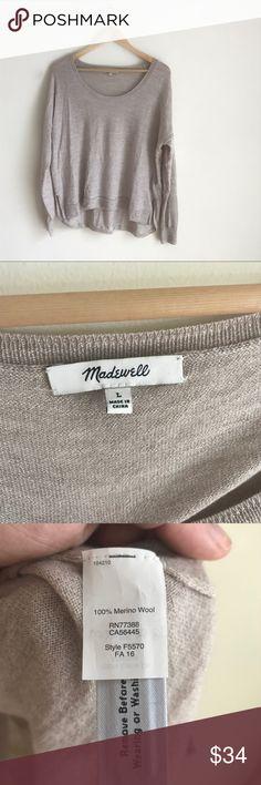 Madewell Merino Wool Lightweight Pullover Sweater Like new, beautiful sweater. Madewell Sweaters Crew & Scoop Necks