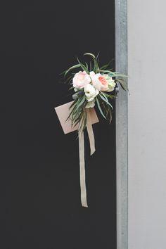 Juliet Garden Roses, Ivory Garden Roses, Parrot Tulips, Thistle, Lavender, Willow Eucalyptus