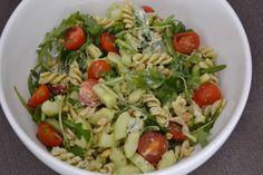 Luie pasta-pesto salade