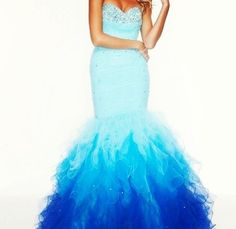 Blue ombre mermaid dress