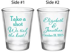 144 Personalized Shot Glasses Custom Wedding Favors by Factory21