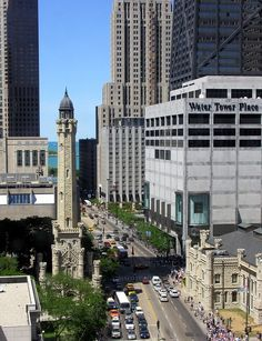 Chicago Water Tower from Chicago Place