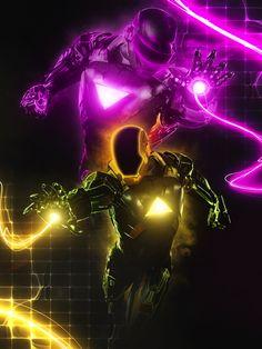 Iron man, versión Tron / http://www.puntogeek.com/2013/01/18/ironman-en-trajes-de-otros-superhores/?utm_source=feedburner_medium=email_campaign=Feed%3A+Puntogeek+%28PuntoGeek%29#
