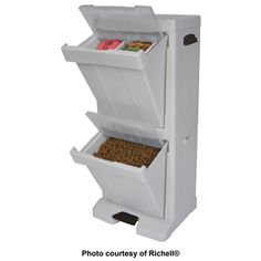 Richell® Pet Stuff Tower™ is the perfect solution to stowing pet food and gear. Keeps all your pet stuff in one place!