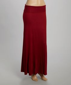 Loving this Burgundy Maxi Skirt on #zulily! #zulilyfinds