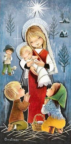 Constanza Armengol Vintage Cartes Postales Greetings Christmas Quality Illustrations Source by angel Christmas Nativity, Noel Christmas, Vintage Christmas Cards, Christmas Pictures, Vintage Cards, Vintage Postcards, Christmas Crafts, Illustration Noel, Illustrations