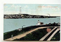 Halifax from George's Island, 1907, Nova Scotia