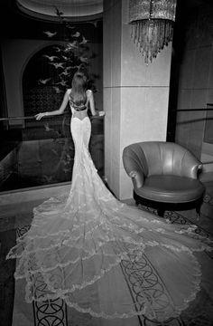 A wedding dress that makes waves.