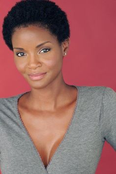 beauty. She has the perfect face/head for a short cut. I wish.