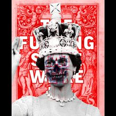 The Fucking State We're In (bravespear _20_11_17) 75cm60cm Giclee print on Canson Baryta #artistofinstagram #art #collage #print #politics #abstract #graphic #text