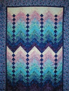French Braid quilt design by Jane Hardy Miller, posted at Fabric Boutique
