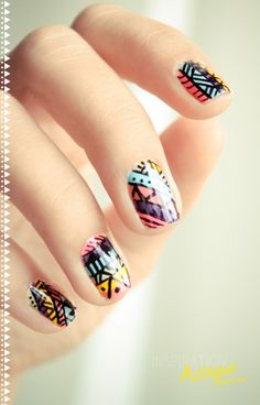 Aztek nail @Rebecca Berdiales i can see you wearing these! :)