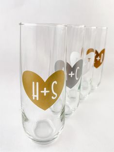 Cute Valentines Day Gift for Wife Gold Stemless Champagne Stemless Champagne Flutes, Champagne Brunch, Bridesmaid Proposal Gifts, Cute Valentines Day Gifts, Bachelorette Gifts, Personalized Wine, Gifts For Husband, Great Gifts, Handmade Items
