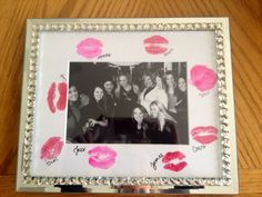 Bachelorette party favor gift kiss frame picture photo present bride gifts bridesmaid maid of honor memories
