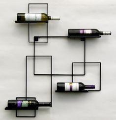 "Weinregal ""Black Line"" Flaschenständer Metall 90cm Flaschenhalter Wandregal: Amazon.de: Garten"