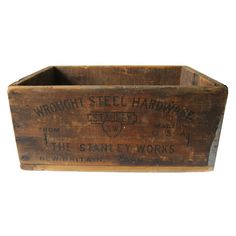 Post Office Box Brighton Vintage Antiqued Wooden Box Trug Crate