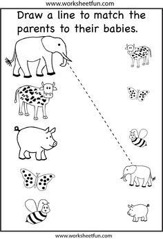 free primary animal worksheets | Worksheet: Baby Animals - Match ...
