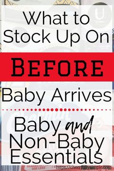 Preparing for the birth of your baby involves more than just buying baby gear. You'll want to make sure you have some basic household essentials, as well as some self-care items for your postpartum care. Here is what to stock up on before baby arrives. Before Baby, After Baby, Pregnancy Months, Pregnancy Tips, Preparing For Baby, Postpartum Care, Fantastic Baby, Baby Arrival, Pregnant Mom