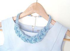 Braccialetto gratis con collana nautica blu di SoAnastasia su Etsy