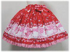 Angelic Pretty / Skirt / Cherry Berry Bunny Skirt