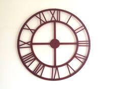 Very Large French Vintage Metal Clock Face by LePasseRecompose