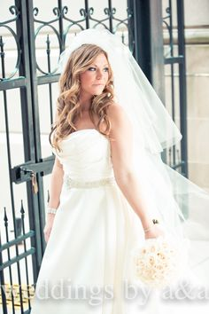 Long and wavy wedding hair