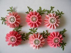 Paper Rosettes Flowers - Peach and Light Pink Combination