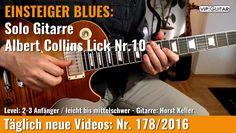 ✪ EINSTEIGER BLUES ►Albert Collins Lick Nr.10 - Solobeispiel.2
