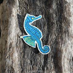 Seahorse Temporary Tattoo | by OctaviaTattoo on Etsy